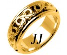 Yellow Gold Celtic Design Wedding Band 8mm YG-2222
