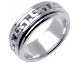White Gold Celtic Design Wedding Band 8mm WG-2230