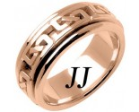 Rose Gold Celtic Design Wedding Band 8mm RG-2231