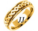 Yellow Gold Celtic Design Wedding Band 7mm YG-2243