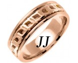 Rose Gold Celtic Design Wedding Band 7mm RG-2251