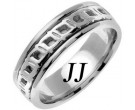 White Gold Celtic Design Wedding Band 7mm WG-2252