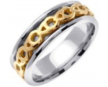 Two Tone Gold Celtic Design Wedding Band 7mm TT-2260