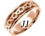 Rose Gold Celtic Design Wedding Band 7mm RG-2261