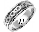 White Gold Celtic Design Wedding Band 7mm WG-2262