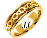 Yellow Gold Celtic Design Wedding Band 7mm YG-2263
