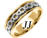 Two Tone Gold Celtic Design Wedding Band 7mm TT-2265