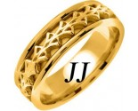 Yellow Gold Celtic Design Wedding Band 7mm YG-2273
