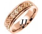 Rose Gold Celtic Design Wedding Band 6mm RG-2281