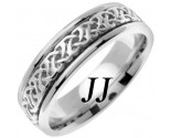 White Gold Celtic Design Wedding Band 6mm WG-2282
