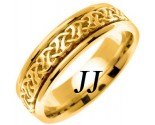 Yellow Gold Celtic Design Wedding Band 6mm YG-2283