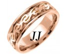 Rose Gold Celtic Design Wedding Band 7mm RG-2291