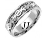 White Gold Celtic Design Wedding Band 7mm WG-2292