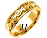 Yellow Gold Celtic Design Wedding Band 7mm YG-2293