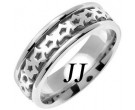 White Gold Celtic Design Wedding Band 7mm WG-2302