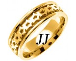Yellow Gold Celtic Design Wedding Band 7mm YG-2303