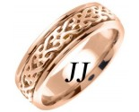 Rose Gold Celtic Design Wedding Band 7mm RG-2311