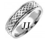 White Gold Celtic Design Wedding Band 7mm WG-2312