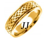 Yellow Gold Celtic Design Wedding Band 7mm YG-2313