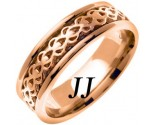 Rose Gold Celtic Design Wedding Band 7mm RG-2321