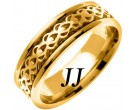 Yellow Gold Celtic Design Wedding Band 7mm YG-2323