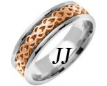 Two Tone Gold Celtic Design Wedding Band 7mm TT-2324