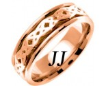 Rose Gold Celtic Design Wedding Band 7mm RG-2331