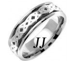 White Gold Celtic Design Wedding Band 7mm WG-2332