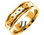 Yellow Gold Celtic Design Wedding Band 7mm YG-2333