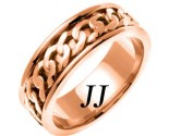 Rose Gold Celtic Design Wedding Band 7mm RG-2341