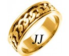 Yellow Gold Celtic Design Wedding Band 7mm YG-2342