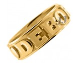 Yellow Gold Personalized Wedding Band 7mm YG-2400