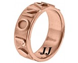 Rose Gold Personalized Wedding Band 7mm RG-2401