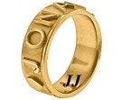 Yellow Gold Personalized Wedding Band 7mm YG-2401