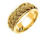 Yellow Gold Hand Braided Wedding Band 8mm YG-255