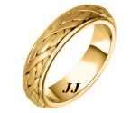 Yellow Gold Hand Braided Wedding Band 6mm YG-258
