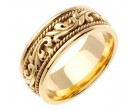 Yellow Gold Paisley Wedding Band 9mm YG-259