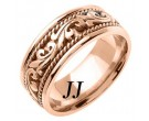 Rose Gold Paisley Wedding Band 9mm RG-259