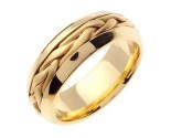 Yellow Gold Hand Braided Wedding Band 7mm YG-260