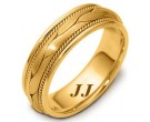 Yellow Gold Hand Braided Wedding Band 6.5mm YG-261