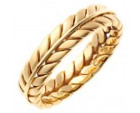 Yellow Gold Ivy Leaf Wedding Band 5mm YG-262
