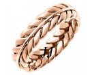 Rose Gold Ivy Leaf Wedding Band 5mm RG-262