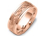 Rose Gold Hand Braided Wedding Band 6.5mm RG-264