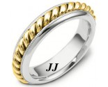 Two Tone Gold Wedding Band 6mm TT-267B