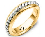 Two Tone Gold Wedding Band 6mm TT-267D