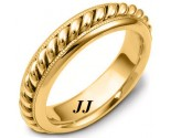 Yellow Gold Wedding Band 6mm YG-267