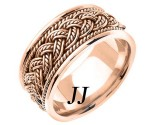 Rose Gold Hand Braided Wedding Band 10mm RG-269