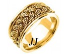 Yellow Gold Hand Braided Wedding Band 10mm YG-269