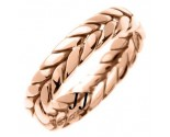 Rose Gold Ivy Leaf Wedding Band 6mm RG-270