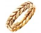 Yellow Gold Ivy Leaf Wedding Band 6mm YG-270